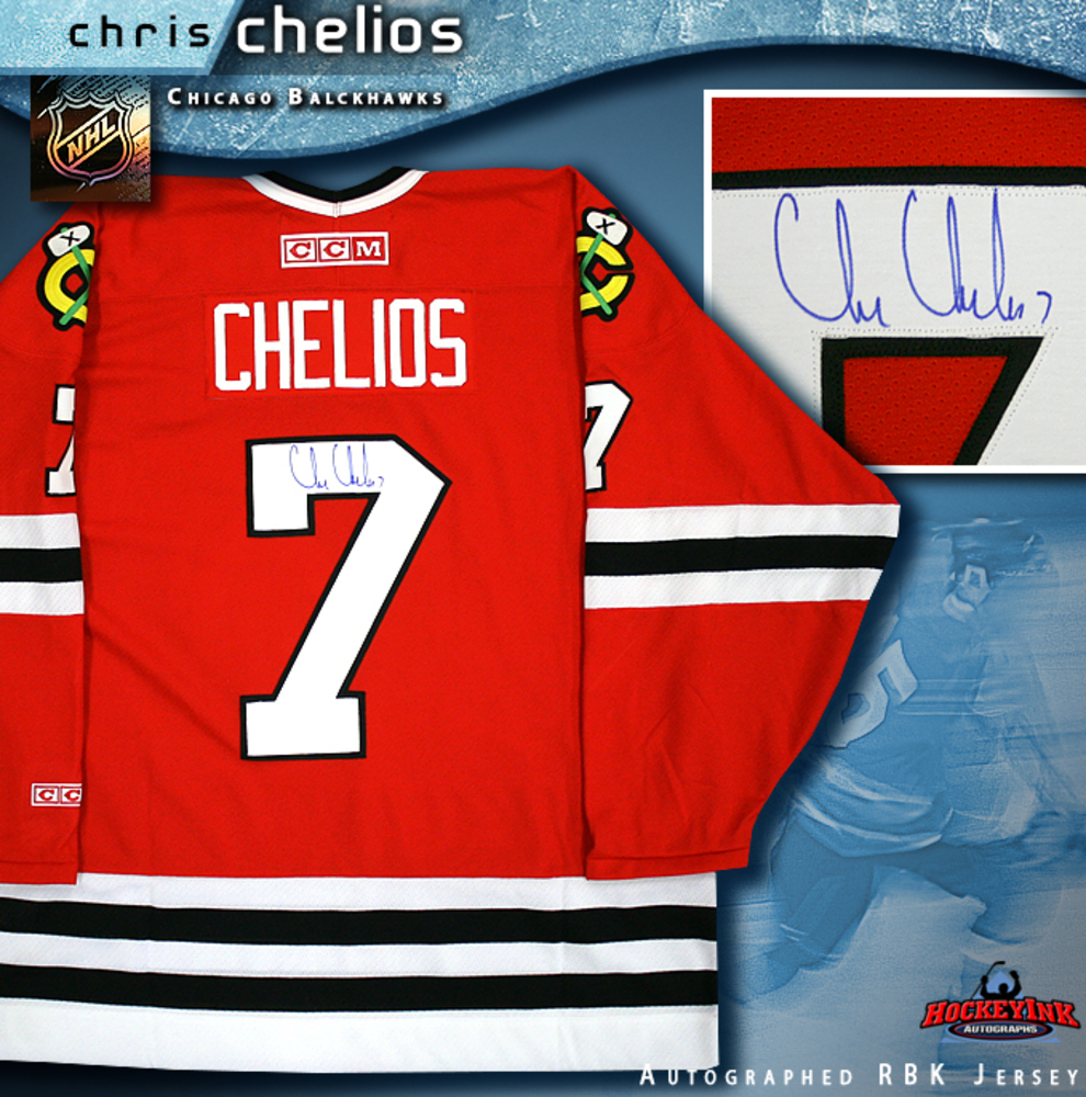 CHRIS CHELIOS Signed Red CCM Chicago Blackhawks Jersey