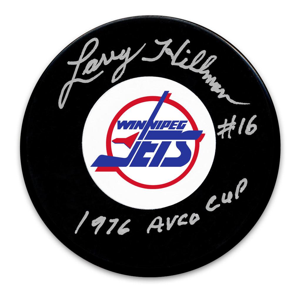 Larry Hillman Winnipeg Jets 1976 Avco Cup Autographed Puck