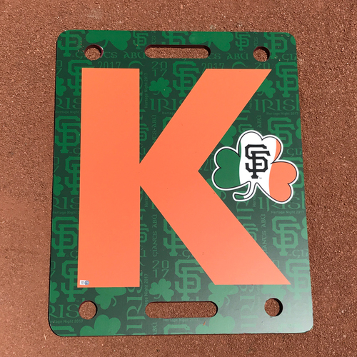 Photo of San Francisco Giants - K Board - 2017 Irish Heritage Night