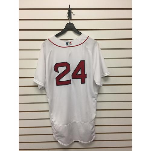 Photo of David Price Game-Used June 24, 2017 Home Jersey