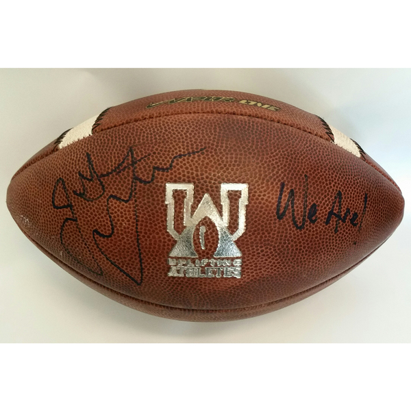 Autographed 2018 Penn State Blue-White Game-Used Football To Benefit Uplifting Athletes (A)