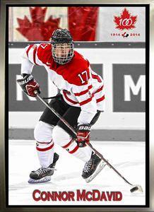 Connor McDavid - Framed 20x29 Canvas - Team Canada World Juniors
