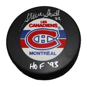 Steve Shutt Autographed Montreal Canadians Puck