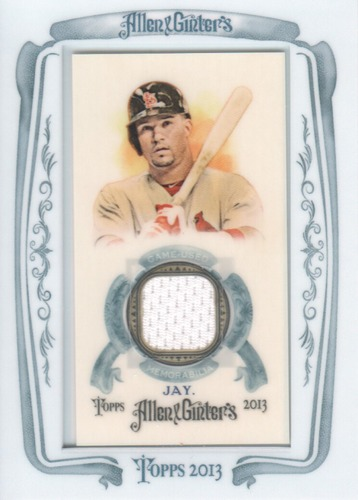 Photo of 2013 Topps Allen and Ginter Framed Mini Relics #JJY Jon Jay