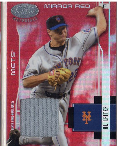 Photo of 2003 Leaf Certified Materials Mirror Red Materials #118 Al Leiter Jsy/250