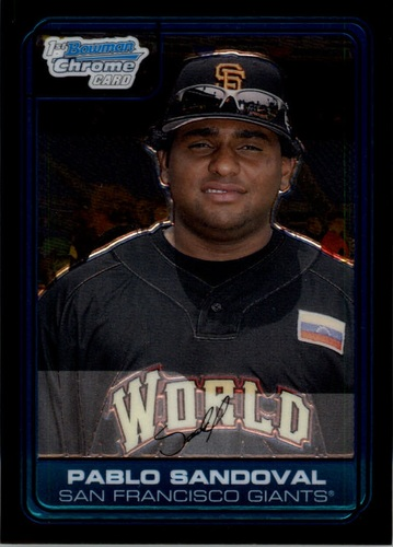 Photo of 2006 Bowman Chrome Draft Future's Game Prospects #6 Pablo Sandoval