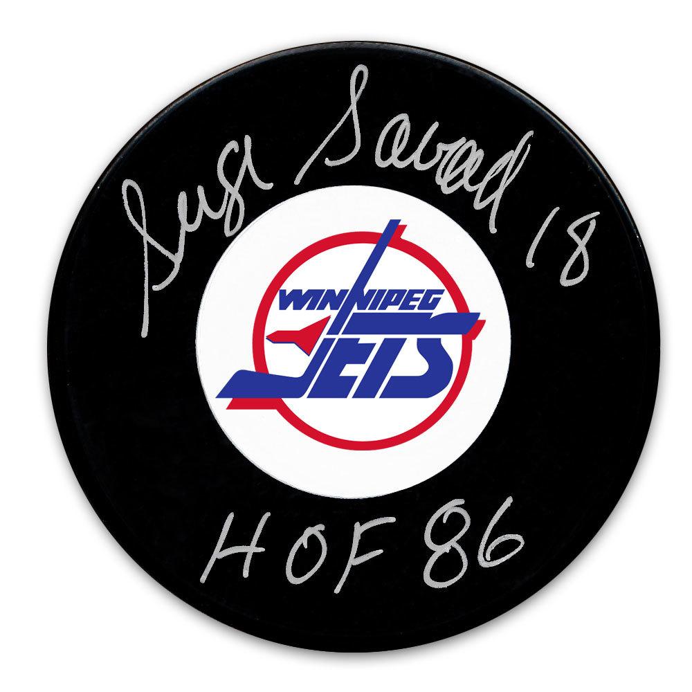 Serge Savard Winnipeg Jets HOF Autographed Puck