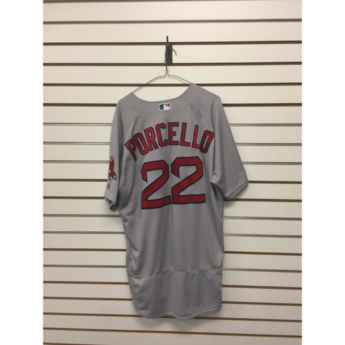 Photo of Rick Porcello Game-Used October 5, 2017 Road Jersey