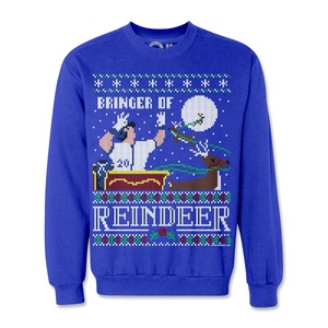 Josh Donaldson Bringer of Reindeer Holiday Sweatshirt by Fresh Brewed Tees
