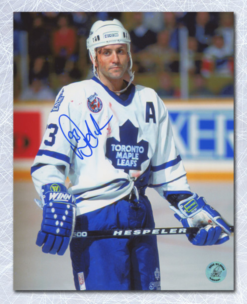 Doug Gilmour Toronto Maple Leafs Autographed Bloody Warrior 8x10 Photo