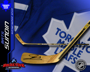 MATS SUNDIN Signed Easton Player Model Stick - Toronto Maple Leafs