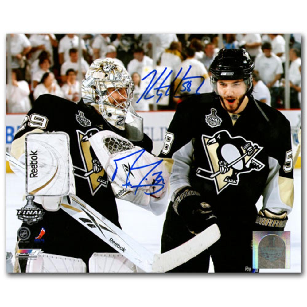 Marc-Andre Fleury & Kris Letang Autographed Pittsburgh Penguins 8X10 Combo Photo