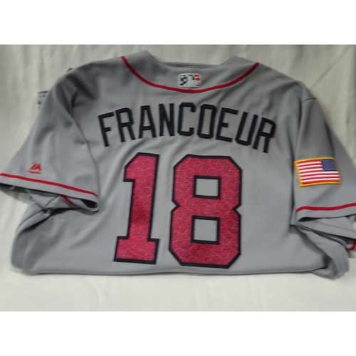 Photo of Jeff Francoeur Game Used 4th of July Jersey