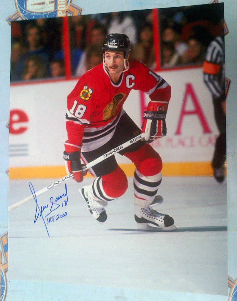 DENIS SAVARD Chicago Blackhawks SIGNED 16x20 Photo w/ HOF 2000 Inscription