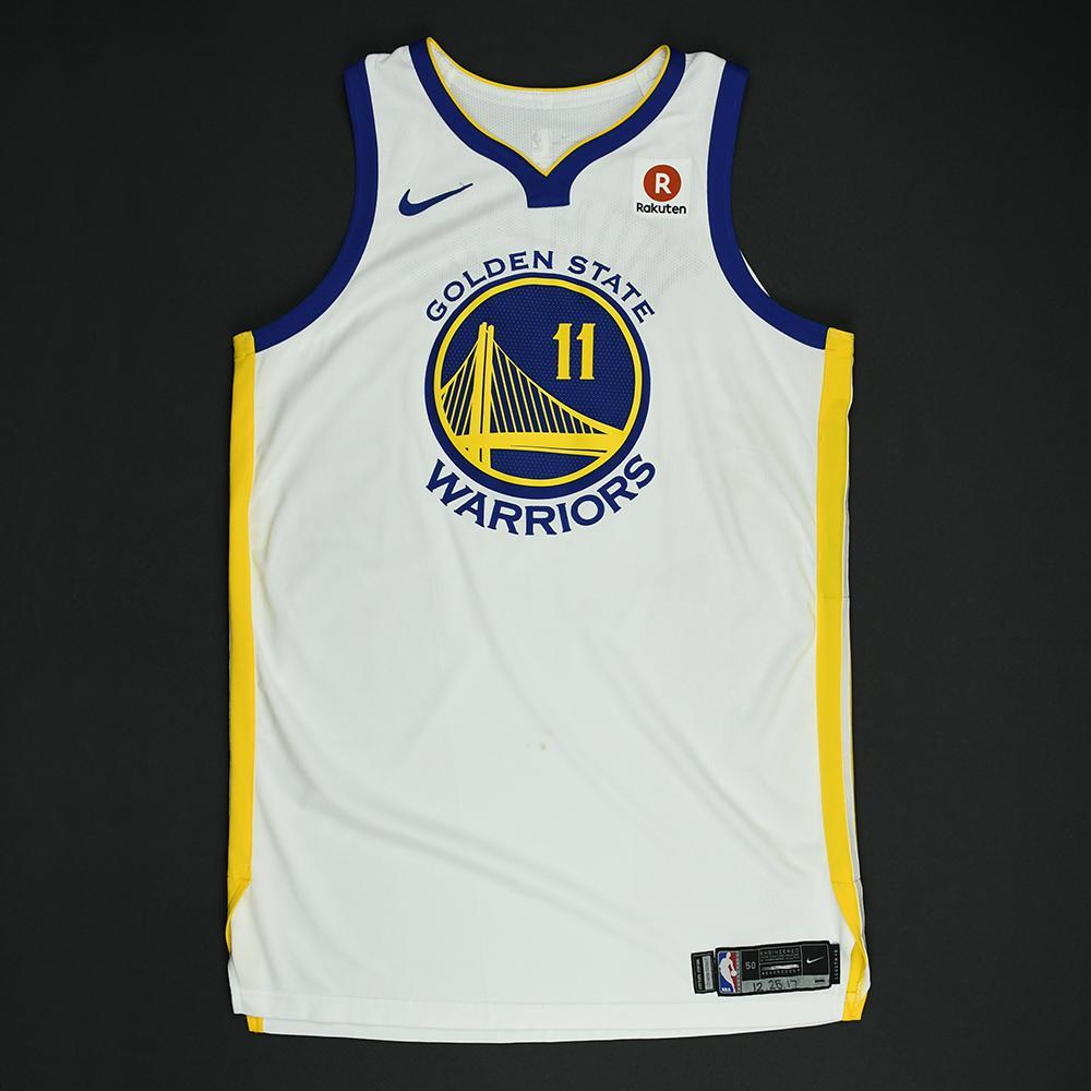 Klay Thompson - Golden State Warriors - NBA Christmas Day '17 Game-Worn Jersey