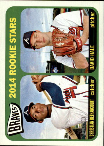 Photo of 2014 Topps Heritage #82 Christian Bethancourt RC/David Hale RC
