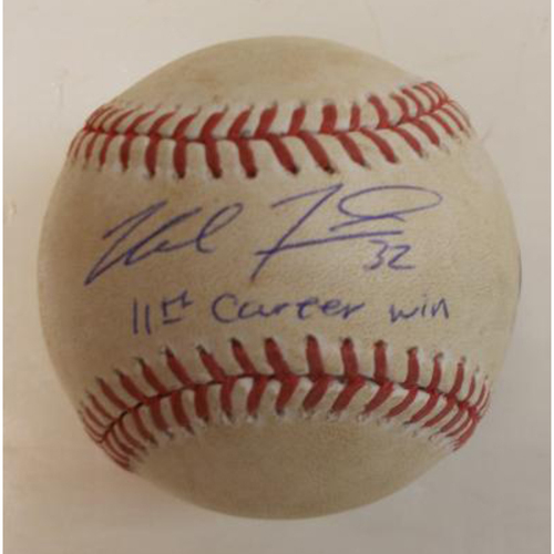 Photo of Autographed Game-Used Baseball: Michael Fulmer 11th Career Win