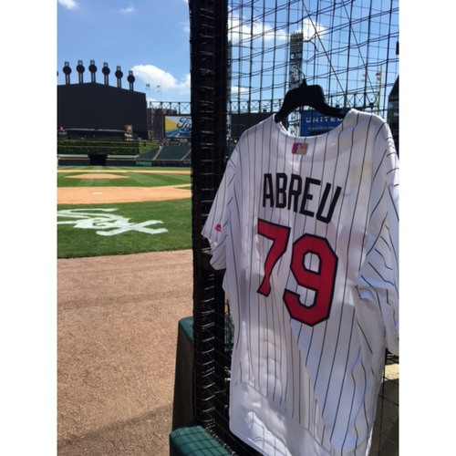 Photo of Jose Abreu Game-Used 2017 Mother's Day Jersey - Size 52