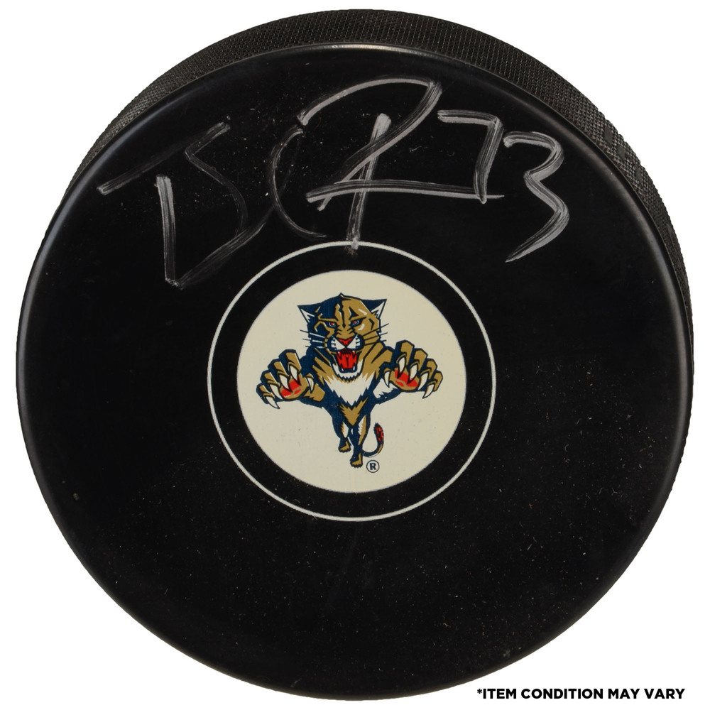 Brandon Pirri Florida Panthers Autographed Hockey Puck - Imperfect Condition
