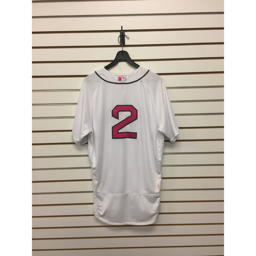 Photo of Xander Bogearts Game-Used May 13, 2017 Home Jersey