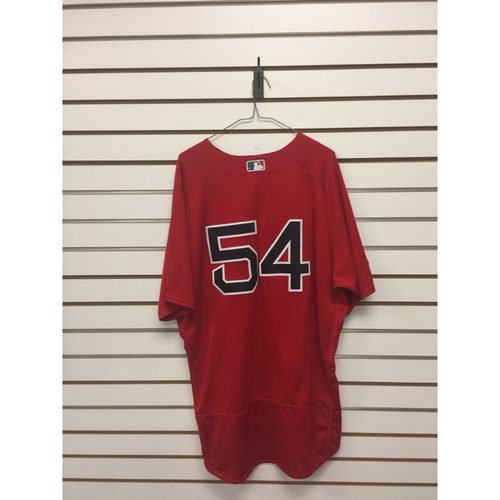 Photo of Carl Willis Game-Used September 29, 2017 Home Alternate Jersey