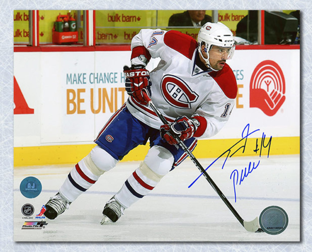 Tomas Plekanec Montreal Canadiens Autographed Playmaker 8x10 Photo