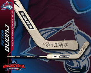 PETER BUDAJ Signed Nike Bauer Player Model Stick - Colorado Avalanche