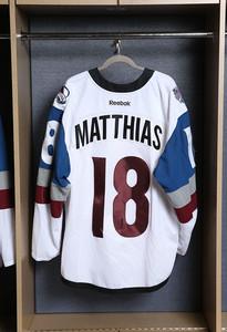 Shawn Matthias Colorado Avalanche Game Worn Stadium Series Jersey