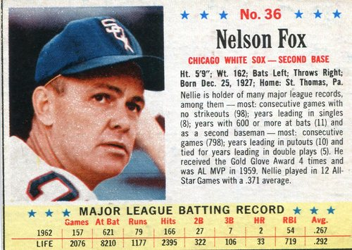 Photo of 1963 Post #36 Nellie Fox