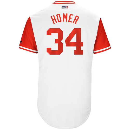 "Photo of Homer ""Homer"" Bailey Cincinnati Reds Game-Used Players Weekend Jersey"