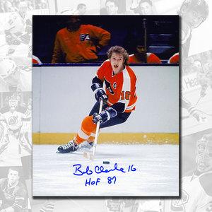 Bobby Clarke Philadelphia Flyers HOF Breakout Autographed 8x10