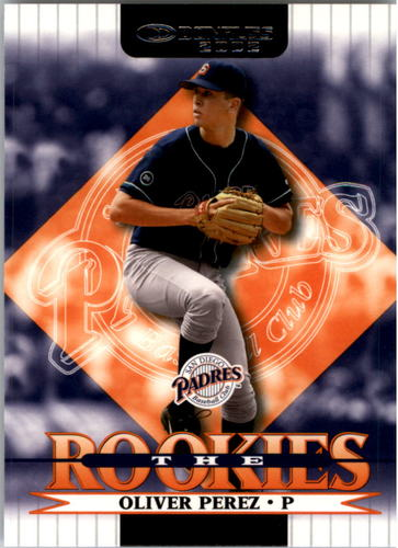 Photo of 2002 Donruss Rookies #75 Oliver Perez Rookie Card -- Nationals post-season