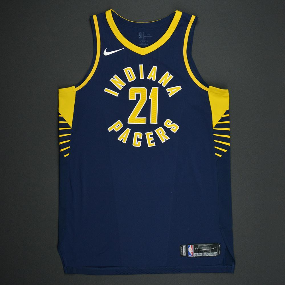 Thaddeus Young - Indiana Pacers - Kia NBA Tip-Off 2017 - Game-Worn 1st Half Only Jersey - Double-Double