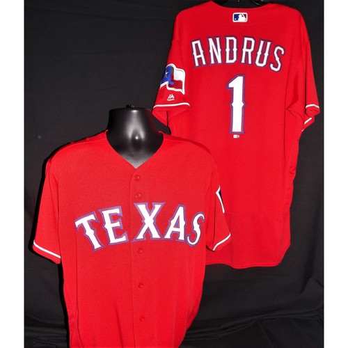 Photo of Elvis Andrus Game-Used Red Jersey