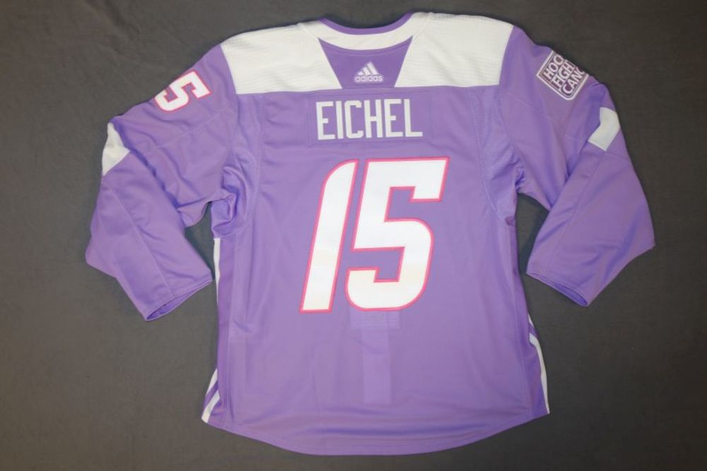 Jack Eichel Buffalo Sabres Pre-Game Hockey Fights Cancer Jersey