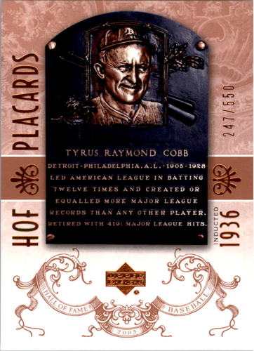 Photo of 2005 Upper Deck Hall of Fame #99 Ty Cobb PC