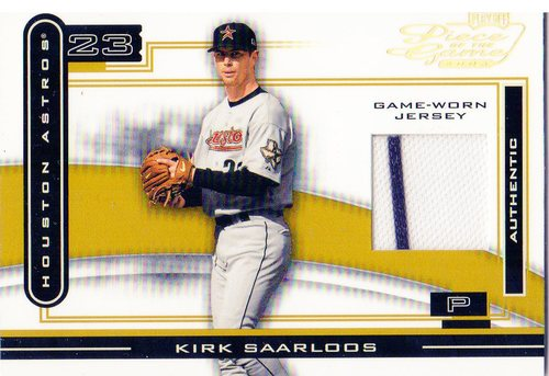 Photo of 2003 Playoff Piece of the Game Gold #57 Kirk Saarloos Jsy