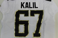 NFL - PANTHERS RYAN KALIL 2016 TEAM RICE GAME ISSUED PRO BOWL JERSEY - SIZE 48