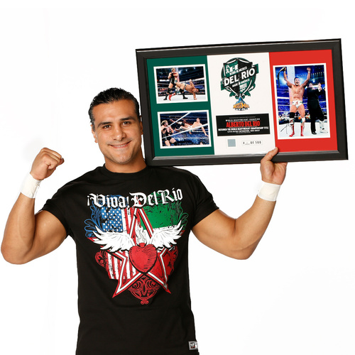 Alberto Del Rio WrestleMania 29 SIGNED Commemorative Plaque (#1 of 500)