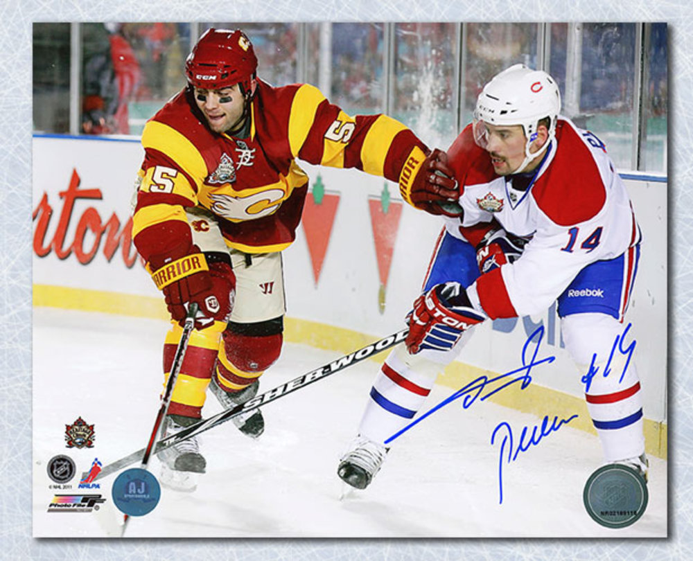 Tomas Plekanec Montreal Canadiens Autographed Heritage Classic 8x10 Photo