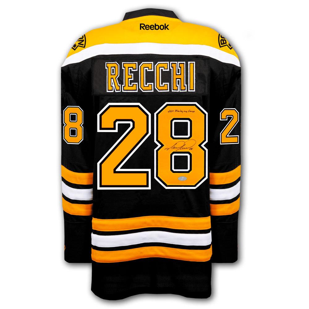 Mark Recchi Boston Bruins 2011 Cup RBK Premier Autographed Jersey