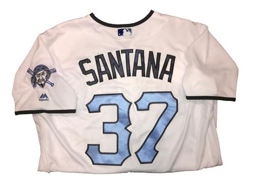 Photo of Edgar Santana Game-Used Father's Day Weekend Jersey - Worn on  6/18