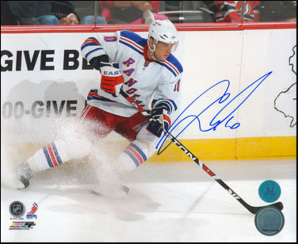 MARIAN GABORIK New York Rangers Autographed 16X20 Photo