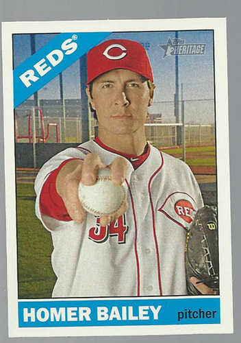 Photo of 2015 Topps Heritage #371 Homer Bailey