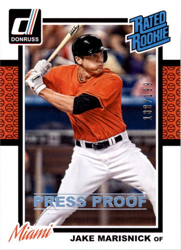 Photo of 2014 Donruss Press Proofs Silver #250 Jake Marisnick