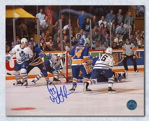 Doug Gilmour Toronto Maple Leafs Signed Playoff Wrap Around Goal 16x20 Photo