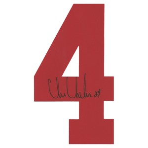 Chris Chelios Autographed Detroit Red Wings Twill Jersey Number