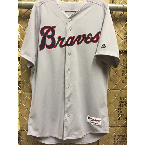 Photo of Nick Markakis Game Used 1969 Throwback Jersey