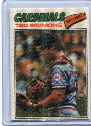 Photo of 1977 Topps Cloth Stickers #43 Ted Simmons