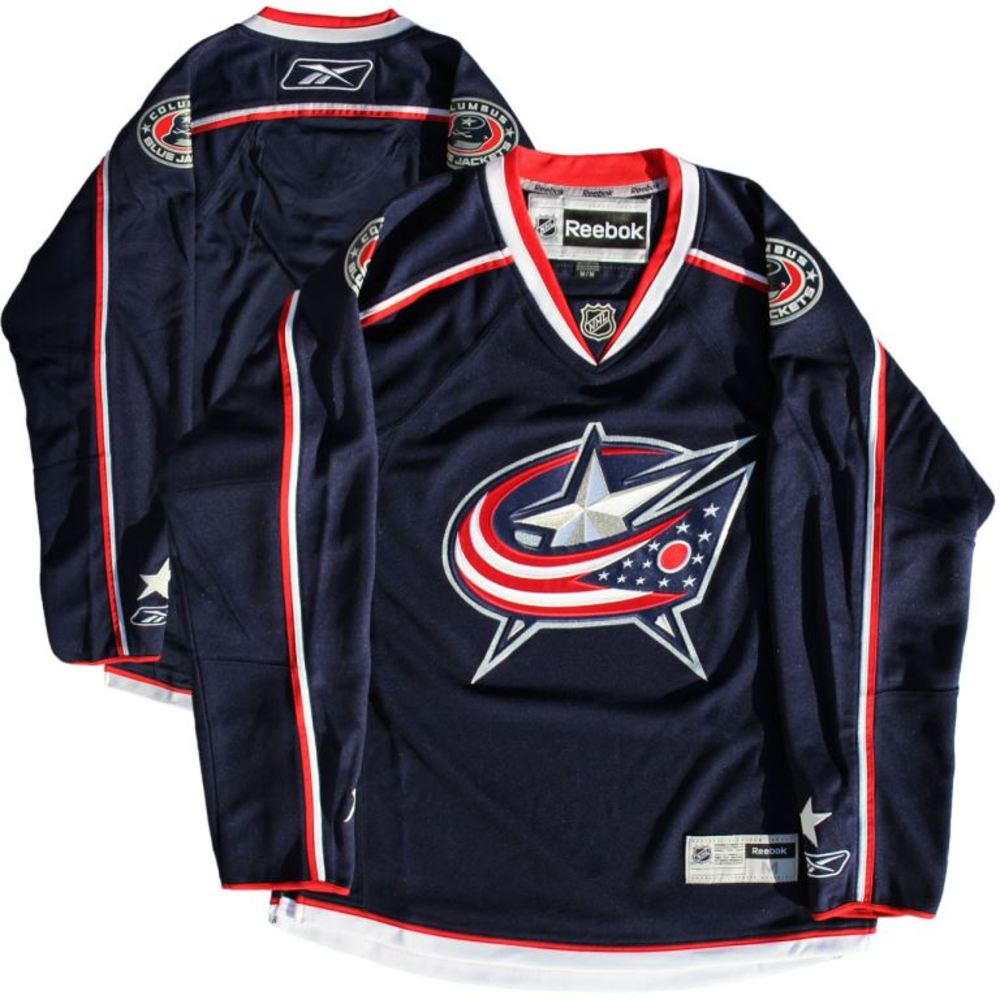 Columbus Blue Jackets - Blue Reebok Jersey (Size Medium)